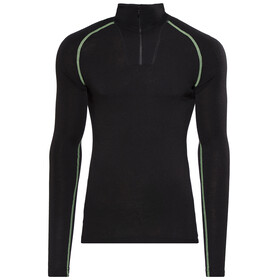 Woolpower Lite Zip Turtleneck Unisex black/light green
